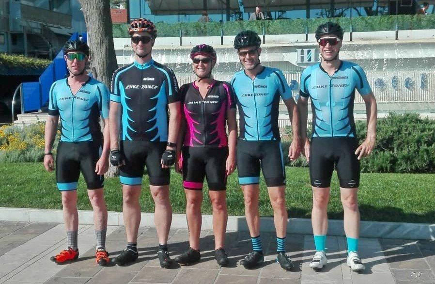 vlnr: Sven, Leonard, Chantal, Joep en Jack  | Riccione 15 jarig bestaan Bike-Zone 2019