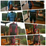Shirt Korte Mouw Blauw/Zwart Bike-Zone