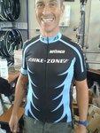 Shirt Korte Mouw Zwart/Blauw Bike-Zone