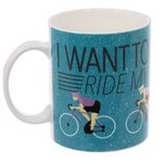Koffiemok I Want To Ride Bicycle Cyclo Cadeau