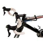 Stuurbeugel, die je stuur van je fiets recht houdt, als deze op een muurbeugel hangt, op steuntje staat etc.