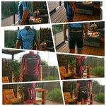 Kledingset Bike-Zone ( Fietsshirt + Fietsbroek ) New Style Roze