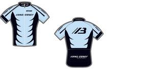 Kledingset Bike-Zone ( Fietsshirt + Fietsbroek ) New Style Blauw