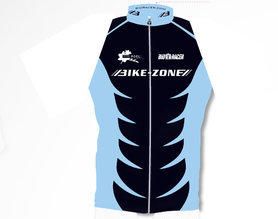Mouwloos fietsshirt  Bike-Zone zwart