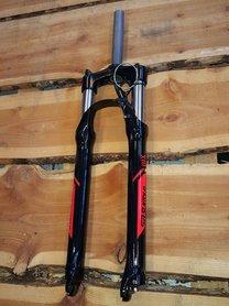 Suntour XCR32 29er Verende voorvork rode decal