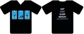 T-Shirt Bike-Zone Eat Ride Sleep