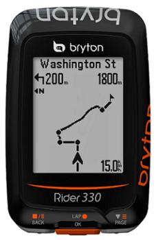 Bryton Rider 330 Fietsnavigatie