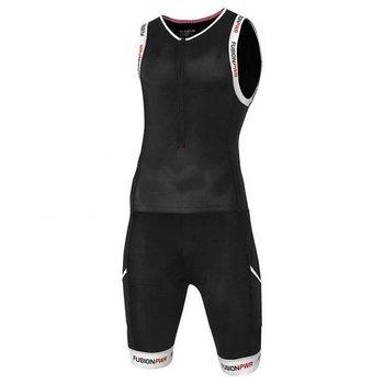 Fusion Multisport Suit Tri Zipp Zwart/Wit smal