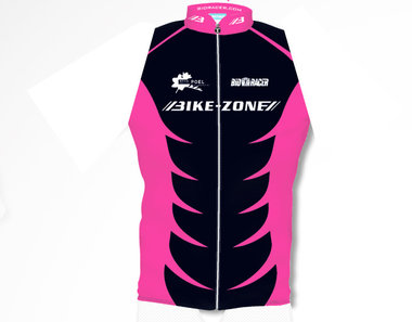 Mouwloos fietsshirt  Bike-Zone Roze