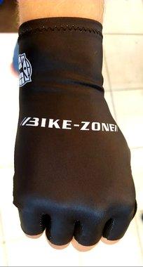 Handschoenen Korte Vingers Bike-Zone Zwart