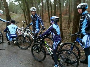 Shirt Lange Mouwen licht gevoerd Bike-Zone BLAUW