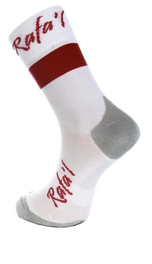 Rafa'l Celeste Fietssok 39-42 wit/rood
