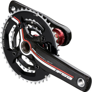 FSA K-Force Light Carbon Triple MTB Crankset, crankstel