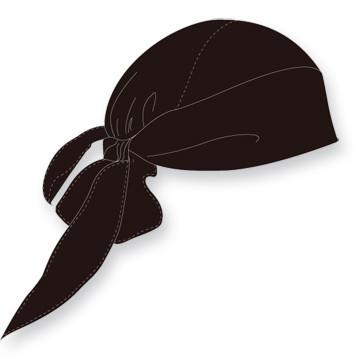 Bandana voor onder je helm | Zwart