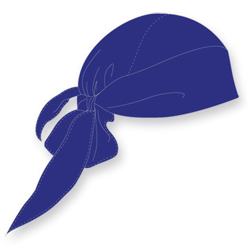 Bandana voor onder je helm | Blauw
