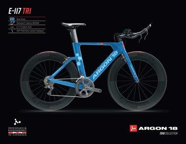Argon18 E-117 Tri Frameset blauw