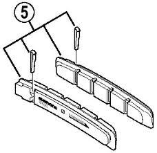 Inschuif Remblokken XTR Ceramisch | Shimano XTR Vervangings Remblokken XTR V-brake