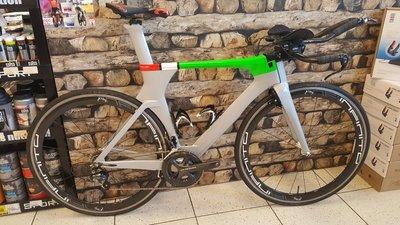Occasion triathlon / tijdrit fiets full carbon, maat Medium
