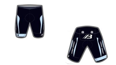 Bike-Zone Fietsbroek Zwart / Blauw met Bretel